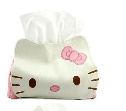 Hello Kitty Portapañuelos Bebé Limpiador Soporte Piel Papel Caja de niña accesorio