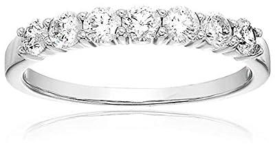 1/2 cttw Certified I1-I2 14K 7 Stone Diamond Wedding Band (H-I Color)
