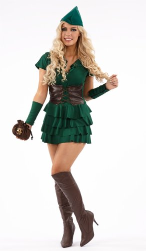 Female Robin Hood (Robin Hood Forest Outlaw Female Fancy Dress Costume - Large (US 14-16))