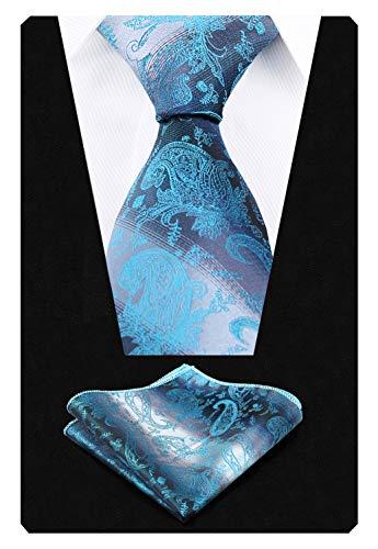Turquoise Pochette cravate homme De Dégradé Couleur Alizeal paisley 1q4E0EwC