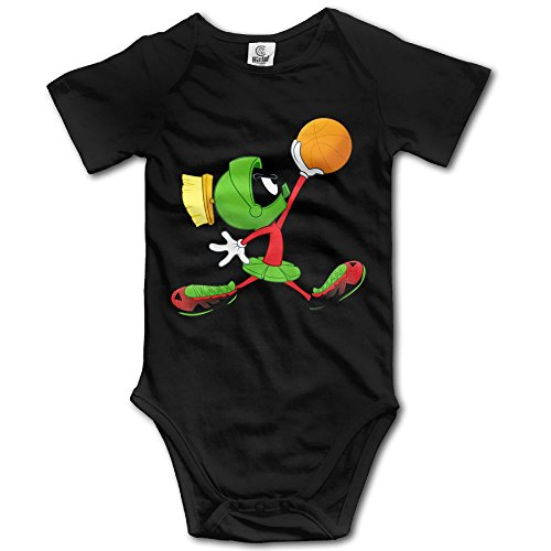 Grace Little Marvin The Martian Play Basketball Unisex Fashion Toddler Romper Baby Boy Playsuit 24 Months Black