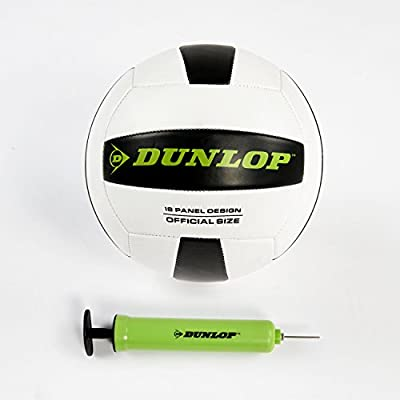 DUNLOP Outdoor Sports Volleyball Set: Portable Net with Poles, Ball & Air Pump - Equipment for Backyard Party Games - Adjustable Height for Adults or Kids from Medal Sports - DROPSHIP
