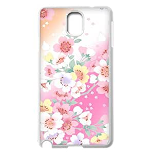 Customized Cover Case with Beautiful Flowers for Samsung Galaxy Note 3 N9000 at Hushell