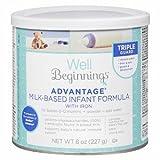 Well Beginnings Advantage Milk-Based Infant Formula w/ IRON - 8 oz