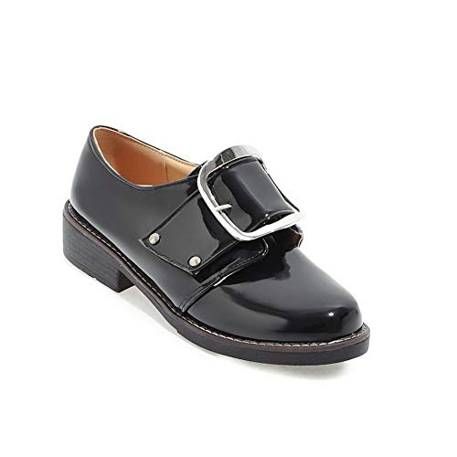 Pumps Comfort APL10585 Buckle Womens Shoes Dress Black BalaMasa Urethane Solid 1PYx1B
