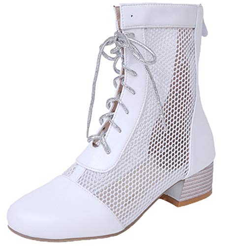 Moda Moda Stivaletti Stivaletti Stivaletti Cut Cerniera Bianco out Donne TAOFFEN 6Azq00