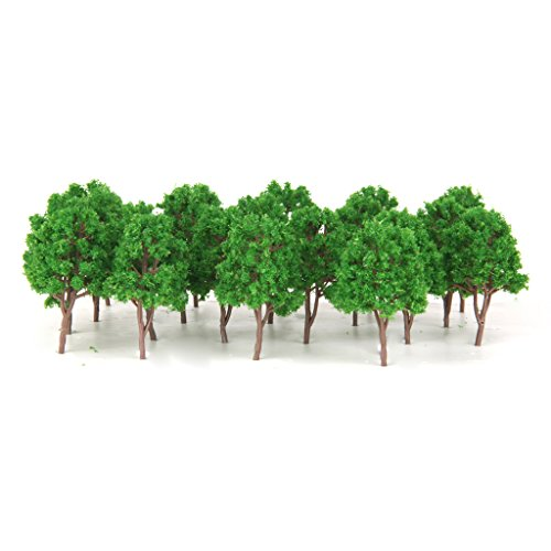 MagiDeal 20Pcs Model Trees Train Scenery Landscape N Scale 1/150