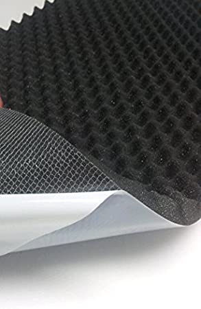 Mit Selbstklebend mail2mail Noppenschaumstoff-Schaumstoff-Daemmung-platten D/ämmung Schaumstoff Akustik PC ca.100 x 100 x 3 cm Anthrazit//Schwarz