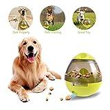Dora Bridal Pet Interactive Dog Toys, Dogs Slower Feeder Bowl Treat Dispenser Cat Toy Thumber Design Food Storage Ball, Pets Teeth IQ Training Balls, 3.9'' x 4.6'' Green