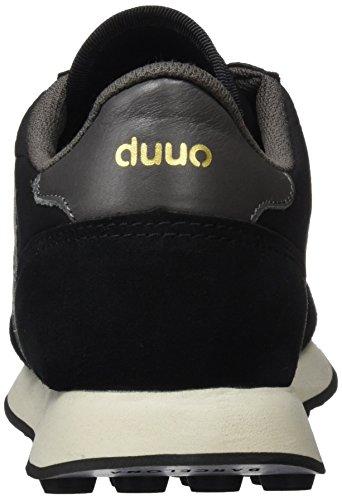 DUUO Unisex-Erwachsene Prisa Low-Top Mehrfarbig (schwarz / Silber)