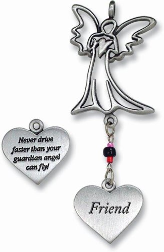 - Cathedral Art KT237 Friend/Angel Ball Chain Car Charm