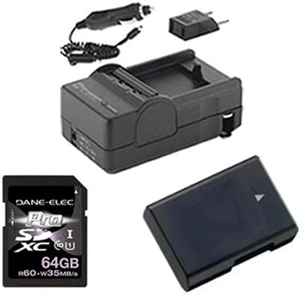 KSD64GB Memory Card Nikon D5300 Digital Camera Accessory Kit includes SDM-1531 Charger ACD421 Battery