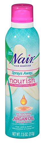 Nair Moroccan Argan Oil Sprays Away, 7.5 oz (Pack of 2)