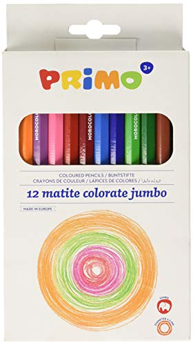 Primo 12 Pk Hexagonal Jumbo Colored - Colored Pencil Chubby