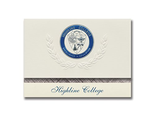 Signature Announcements Highline College Graduation Announcements, Platinum Style, Basic Package 20 with Highline College Seal Foil