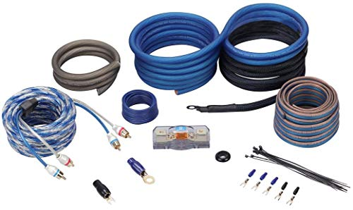 Installation Silver Amplifier Kit (Rockville RWK4CU 4 AWG Gauge 100% Copper Complete Amp Installation Wire Kit OFC)