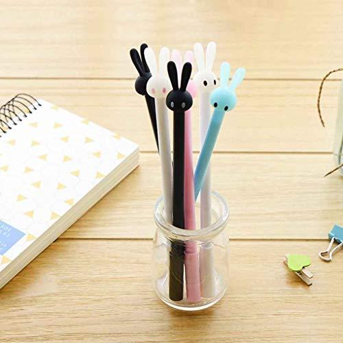 Füllfederhalter & Kugelschreiber Babysbreath17 Reizende Kaninchen-Neutral Pen Warhead Wasser Schwarz 0,5 mm Kunststoff-Feder-Büro-Briefpapier Kohlenstoff Unterschrift Farbe Random