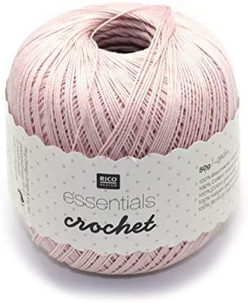 Rico Design Essentials Crochet, 100% algodón, Color Beige, 100 ...