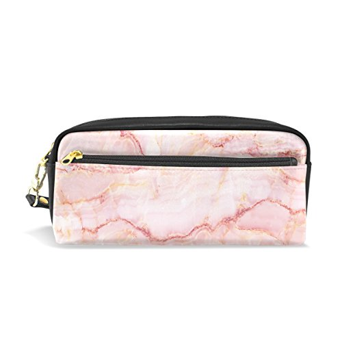 U LIFE Abstract Ink Marble Stone Stripe Pink Pencil Holders