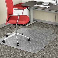 Realspace(R) Advantage Chair Mat, Standard Lip, For Thin Commercial-Grade Carpets, 36in.W x 48in.D, Clear by Realspace
