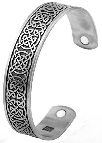 Irish Celtic Cuff Bangle (Irish Knot Magnetic Bangle Bracelet For Men/Women To Keep Health And Fit (antique silver))