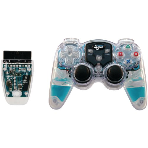 (DREAMGEAR DGPN-524 PlayStation(R)2 Lava Glow Wireless Controller (Blue) electronic consumer Electronics)