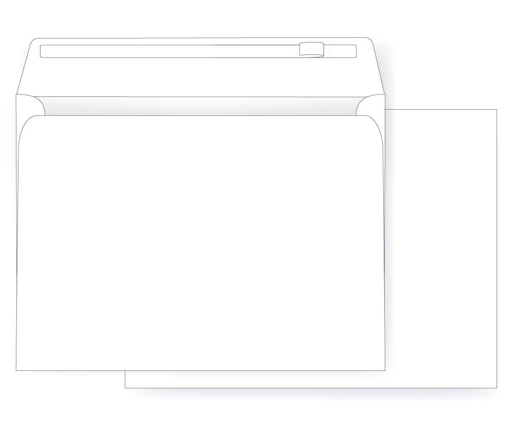 10 x 13 Booklet Envelope - Open Side - 28# White Peel & Seal Flap (10 x 13) - Jumbo Envelope Series (Box of 500)
