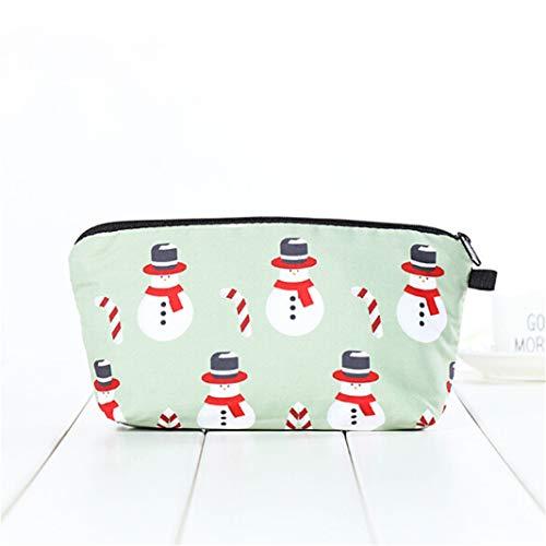 Sperrins Femmes De Sac 3D Sac Maquillage De Lavage D'embrayage Nécessité Claus Santa Parti Main Sac Stockage Cosmétique Impression Helvétique rSqYrHxwT