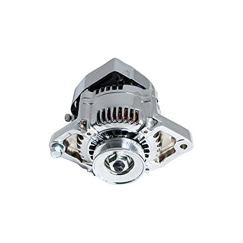 Top Street Performance ES1004C Chrome Finish 90 Amp Racing Alternator (1 Wire) by Top Street Performance