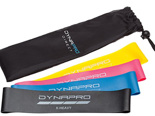DYNAPRO Resistance Bands Crosstrainer Fitness & Jogging Mini Precision Loop Exercise Bands with E-Quickstar...