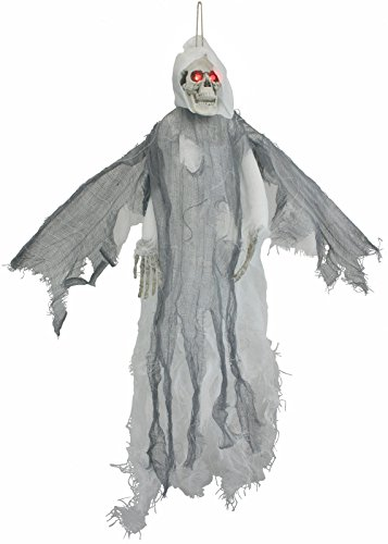 Wings Prop Reaper With Flying (White Lighted Animated Flying Reaper with Wings)