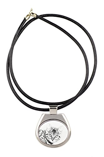 Bengal, collection of necklaces with image of a cat, sublimation