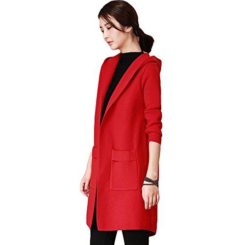 (シンイ)Xin Yi レディース セーター ロング ニット カ-ディガン フォーマルセーター ロングコート トップス 上着 長袖 フード付き ゆったり おしゃれ 新着