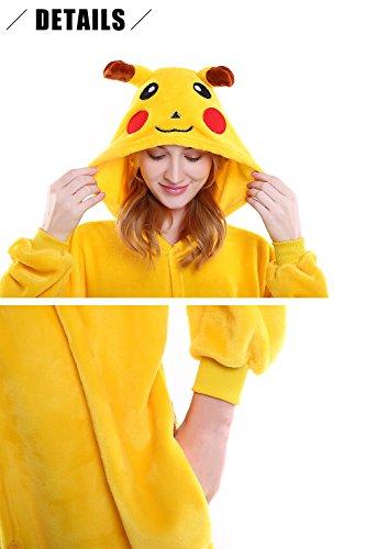 Sleepwear Dolamen Pigiama Anime Adulto Donna Party Halloween Onesie Uomo Natale Kigurumi Costume Cosplay Attrezzatura Unisex Pikachu Bq1wxrB6