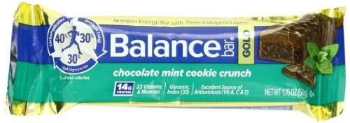 Balance Bar Gold Bar énergie, Chocolate Mint Cookie Crunch, 1,76 once, Bars 15 Count