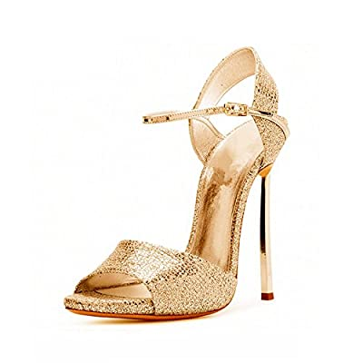 Collocation-Online Large Size 33-43 Brand Super High Heels Party Wedding Shoes Sandals Sexy Summer Footwear