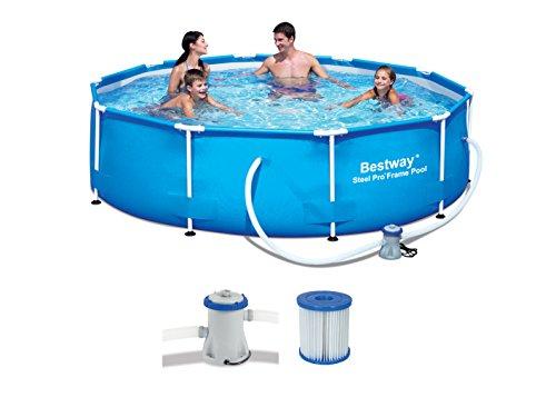Bestway piscina redonda c hidr est met 305x76cm for Montaje piscina bestway