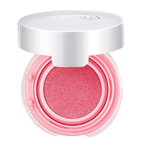 Face Blusher (Hunputa Waterproof Blusher Highlighter Makeup Blush-Face Makeup Cheek Color Blusher-Professional Beauty Cosmetics Make Up Blushing Kit-Face Pressed Powder Baked Mineral Cream Blush (Pink))