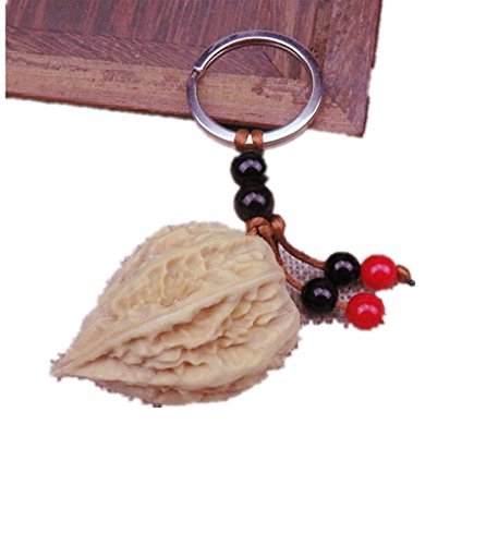 Pecan Chain (Micrkrowen Pecan Seed Keychain Pendant)