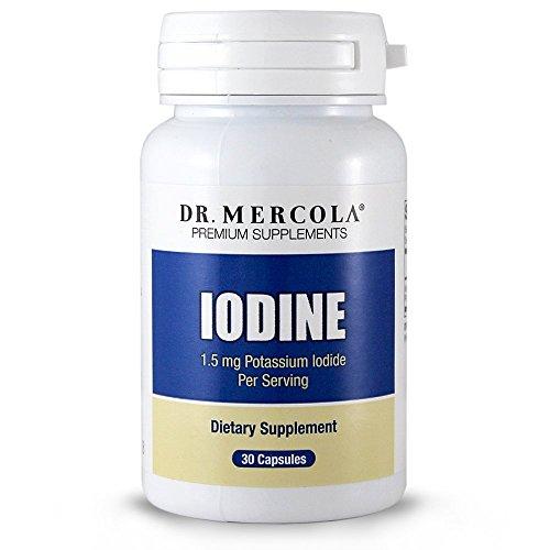 Dr. Mercola iode - 30 Capsules - 1,5 mg iodure de Potassium par portion - aide à maintenir une peau saine, les dents et les cheveux