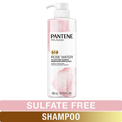 Pantene, Shampoo, Sulfate, Paraben and Dye Free, Pro-V Blends, Soothing Rose Water, 17.9 fl oz