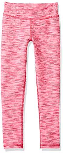 Amazon Essentials Big Girls' Full-Length Active Legging, Pink Spacedye, XXL