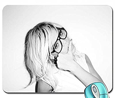 Art black people rihanna glasses grayscale monochrome terry richardson mouse pad computer mousepad