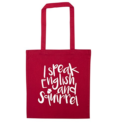 I and squirrel speak Red english I bag tote speak rqxrcw7ICR