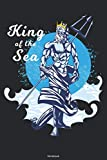 King of the Sea Notebook: Poseidon Trident Journal Merman Composition Book Greek God Birthday gift