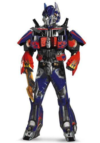 Disguise Mens Prime Rental Transformers Optimus Theme Party Fancy Dress Costume, XL (Transformer Costume Rental)