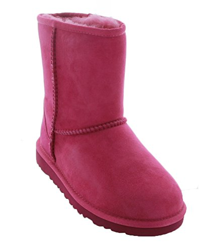 UGG Kids Unisex Classic (Big Kid) Furious Fuchsia Twinface Boot by UGG