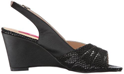 Faux Kim01sp Leather Pink Black Sandal Label Wedge Pleaser Women Bpu 8PntSqxT