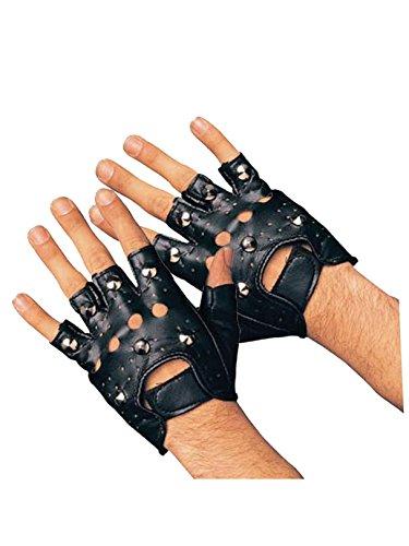 Rubie's Studded Gloves, Black, -