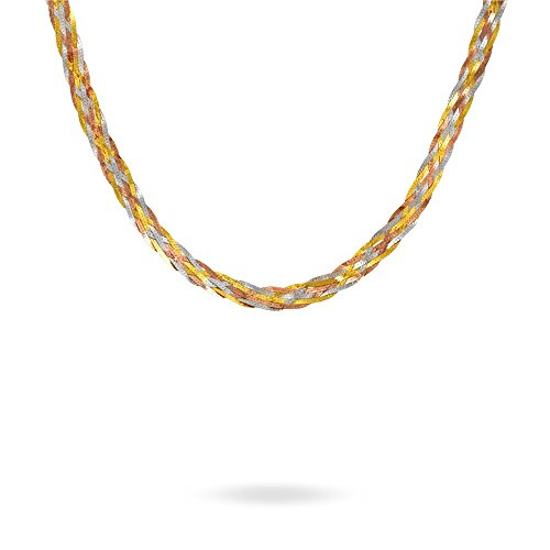 HISTOIRE D'OR - Chaine Or Tricolore - Femme - Or 3 couleurs 375/1000